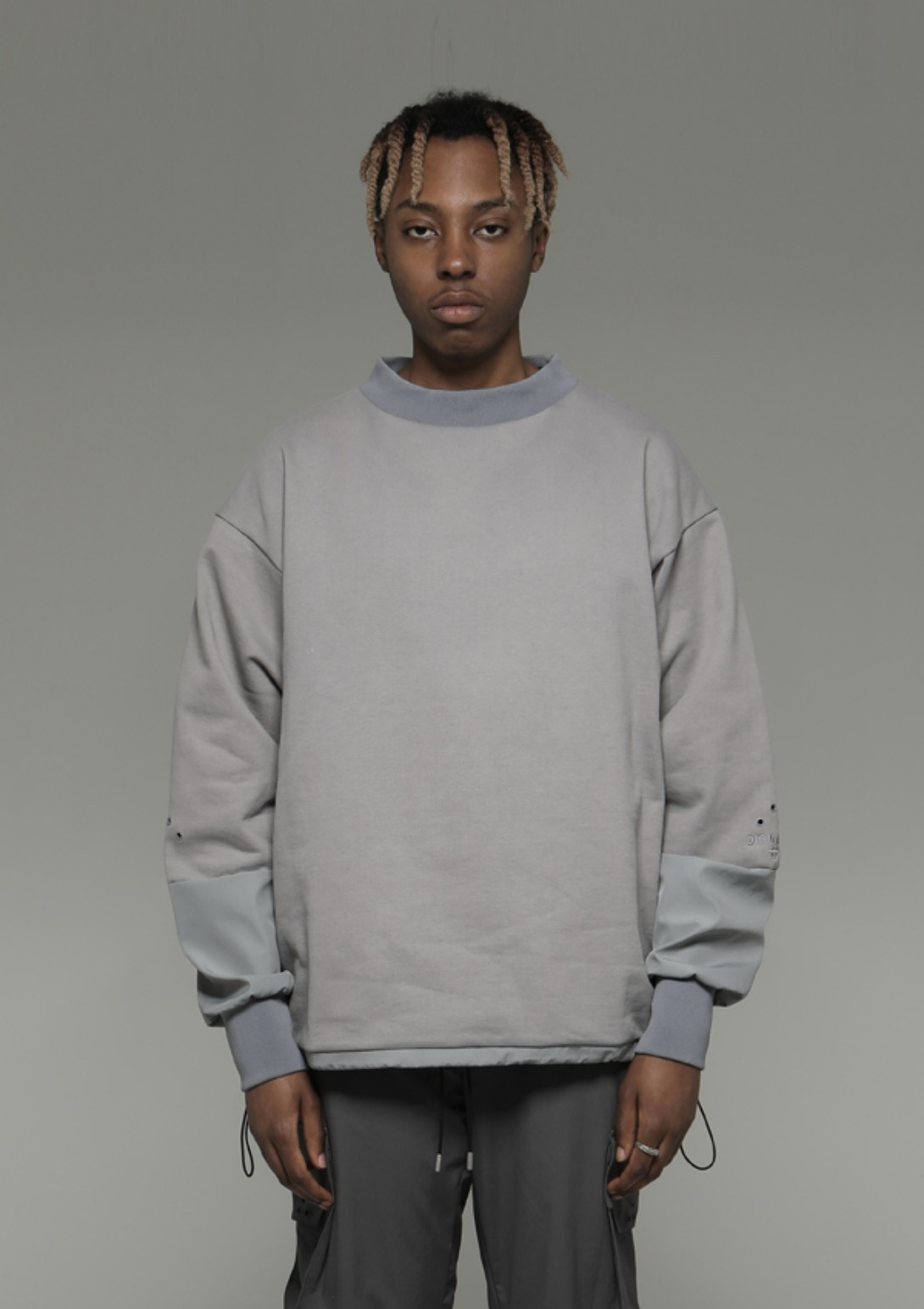 Own label brand[DENAGE] Divide Square Sweatshirt Gray