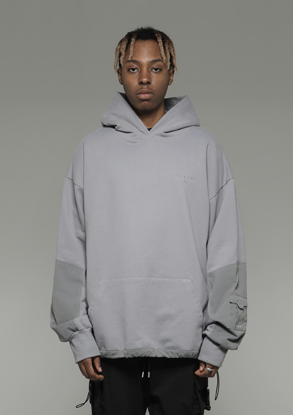 Own label brand[DENAGE] Arm Pocket Over Size Hoodies Gray