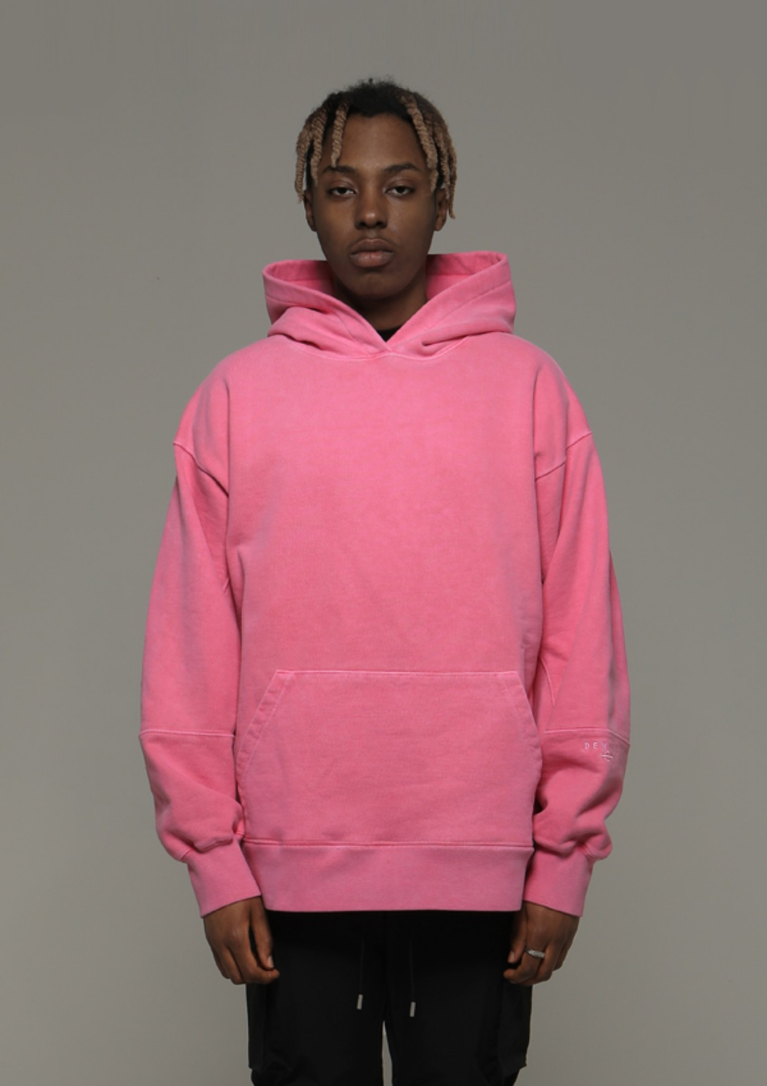 Own label brand[DENAGE] Heavy Armor Washing Hoodies Pink