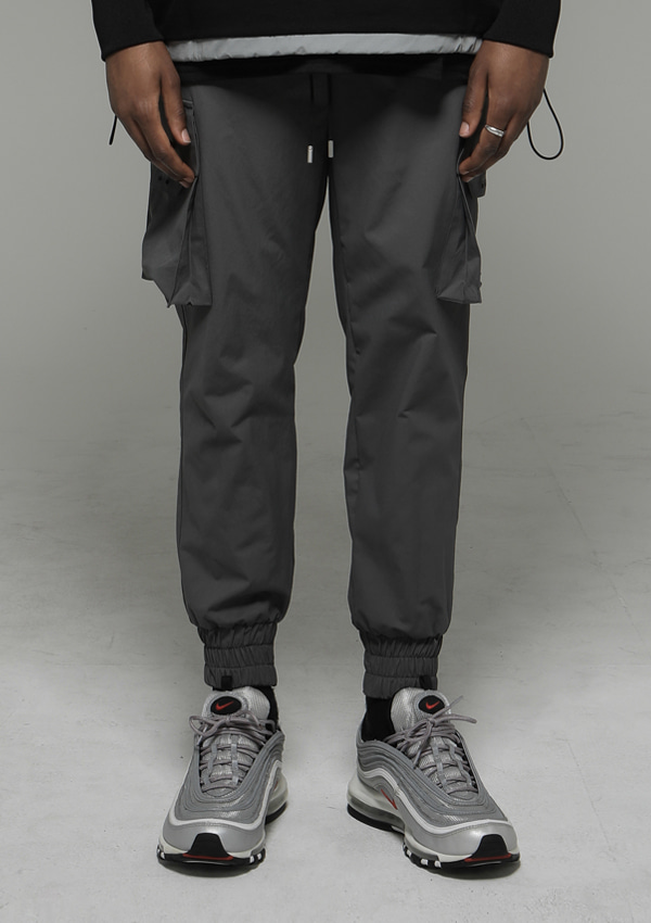 Own label brand[DENAGE] Signature Cargo Jogger Pants Gray