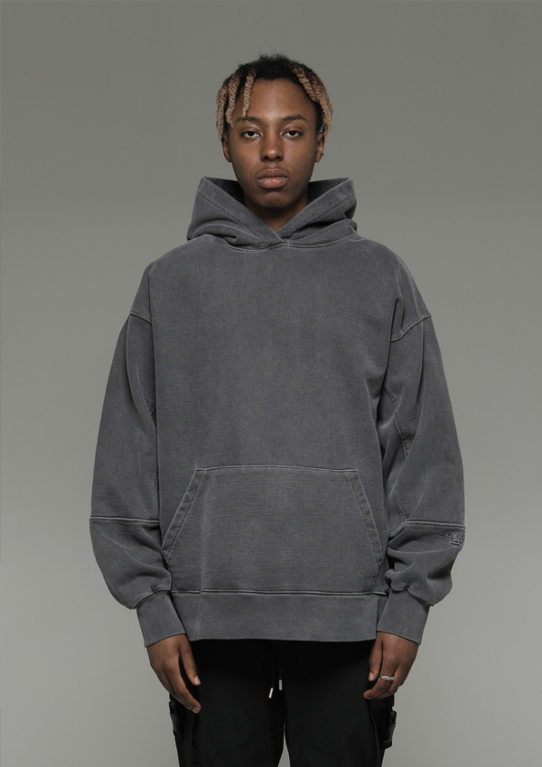 Own label brand[DENAGE] Heavy Armor Washing Hoodies Gray