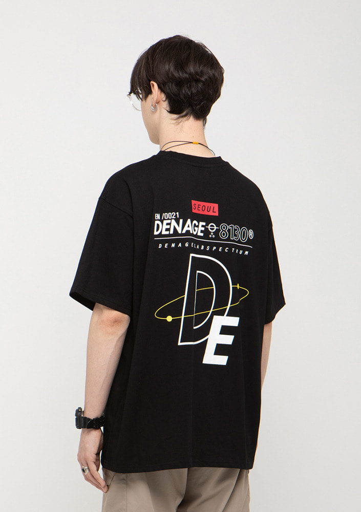 Own label brand[드네이지]ATOMIC MULTI LOGO  OVERSIZE T-SHIRTS