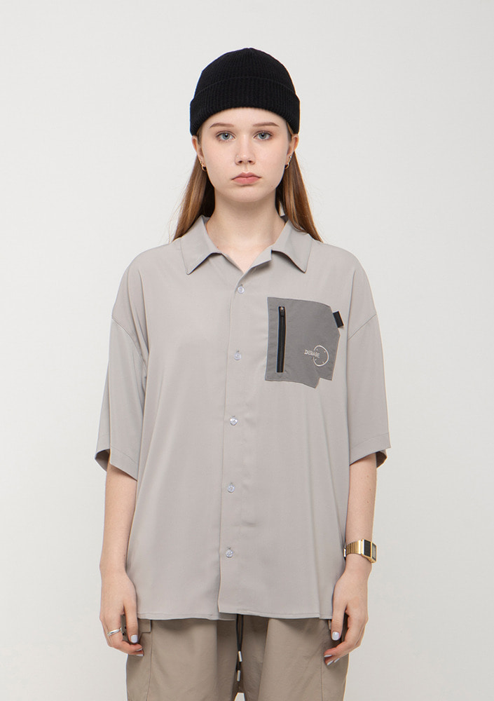Own label brand[드네이지]SOFT ZIP POCKET SHIRTS