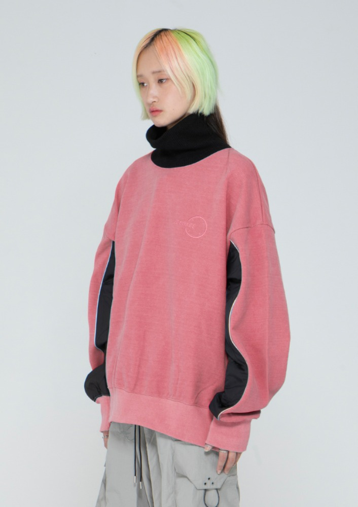 Own label brand[드네이지] Quilting Turtleneck M2M PIGMENT PINK_0091
