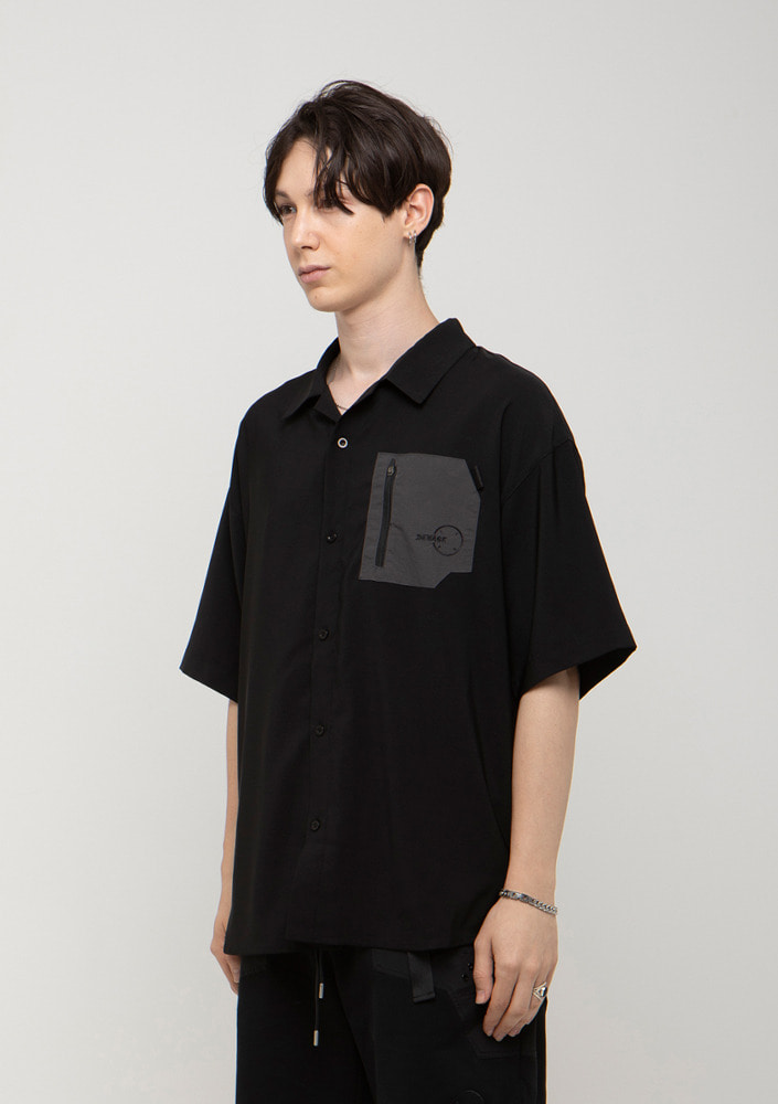 Own label brand[드네이지] SOFT ZIP POCKET SHIRTS