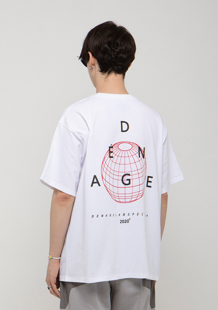 Own label brand[드네이지]TRIANGLE BACK LOGO  OVERSIZE T-SHIRTS
