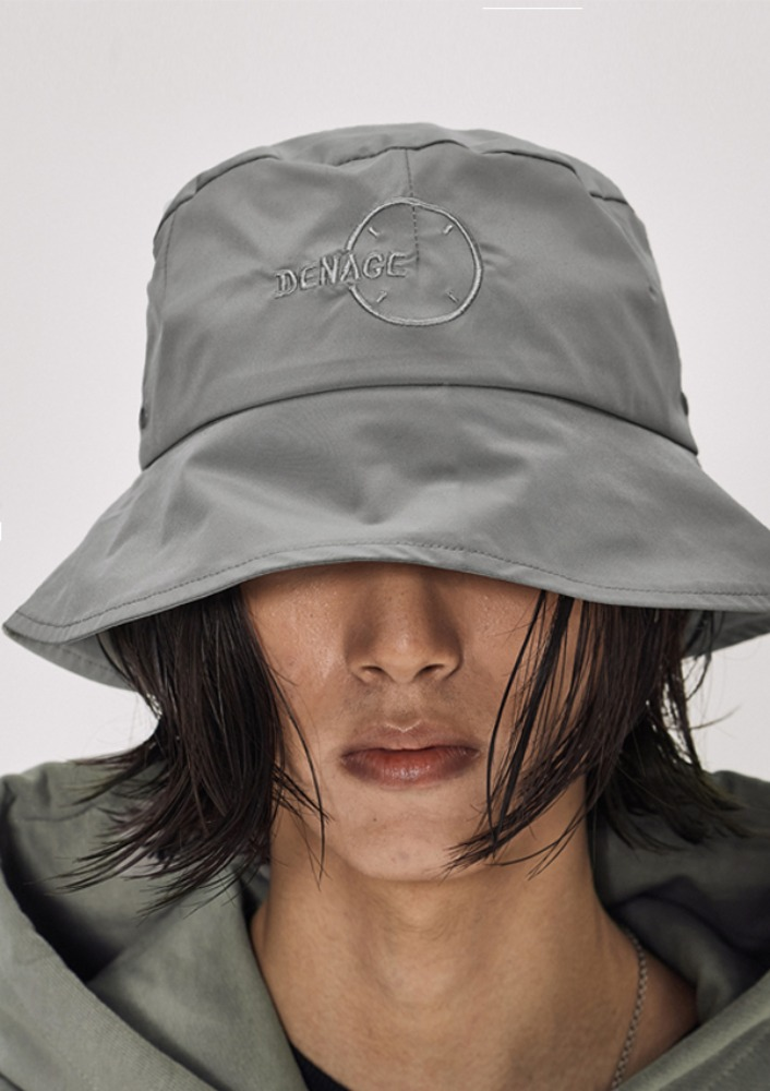 Own label brand[DE-NAGE] Circle Logo Bucket Hat Grey_0160