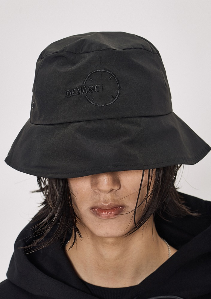 Own label brand[DE-NAGE] Circle Logo Bucket Hat Black_0159