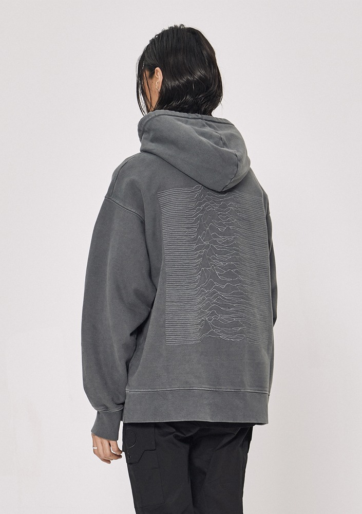 Own label brand[드네이지]Division Washing Heavyweight Hood GREY
