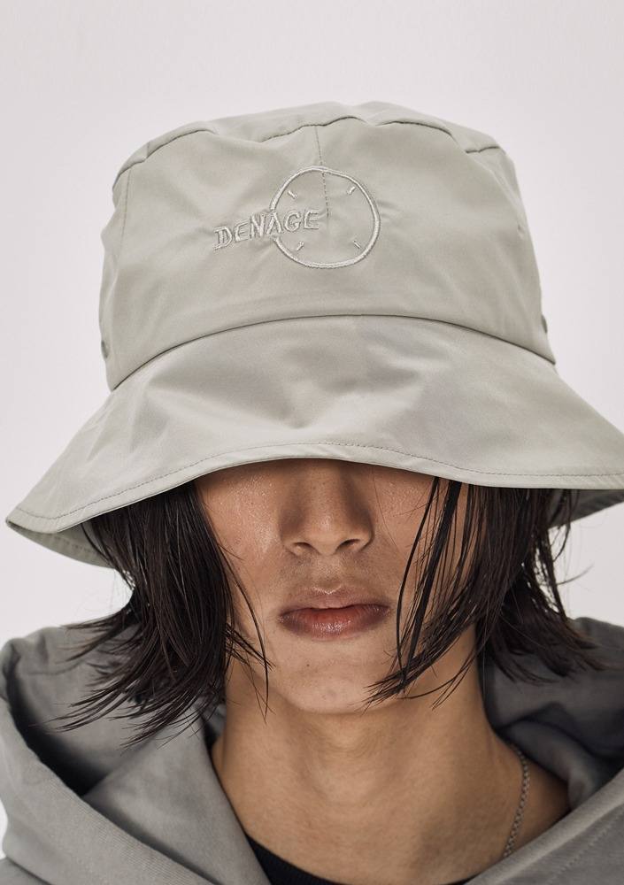 Own label brand[DE-NAGE] Circle Logo Bucket Hat Beige_0161