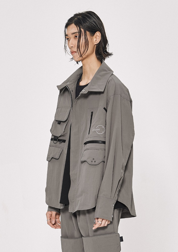 Own label brand[DE-NAGE] Neo Wave Jacket Grey_0149