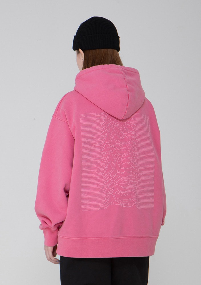 Own label brand[드네이지]Division Washing Heavyweight Hood PINK