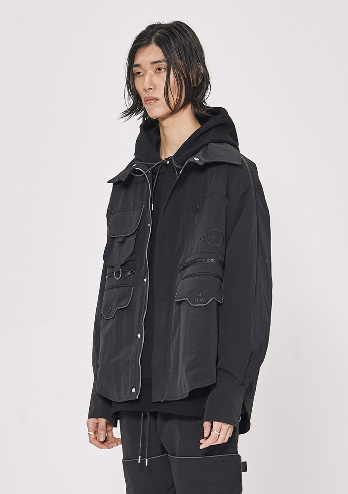 Own label brand[DE-NAGE] Neo Wave Jacket Black_0148