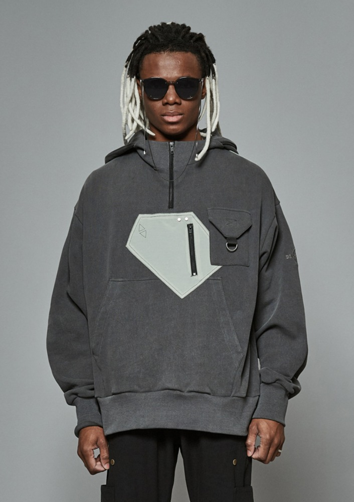 Own label brand[DE-NAGE] Archive Half Zip Up Grey 0180