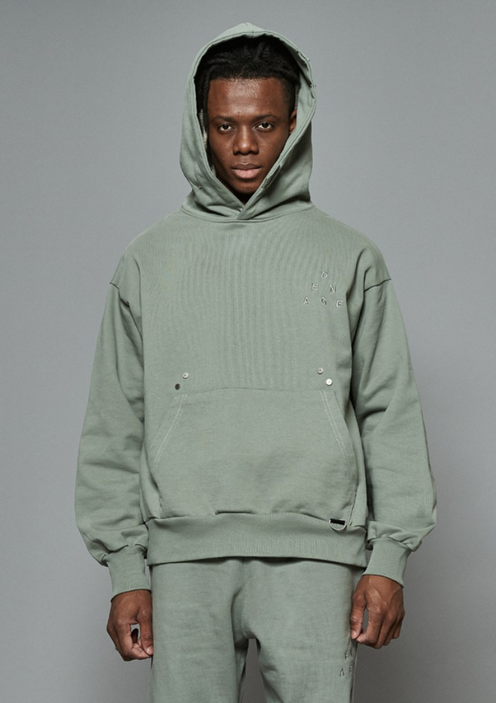 Own label brand[DE-NAGE] Hidden Pocket Snap Hood Green 0173
