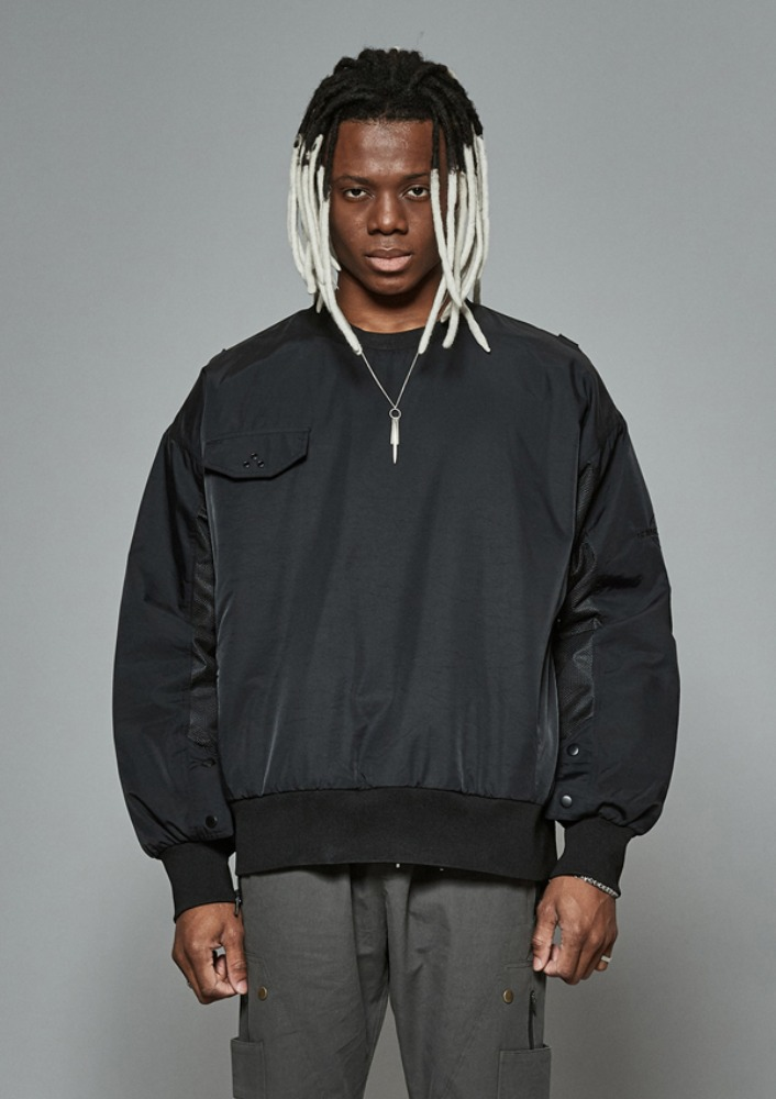 Own label brand[DE-NAGE] Net Pocket Pullover Black 0164