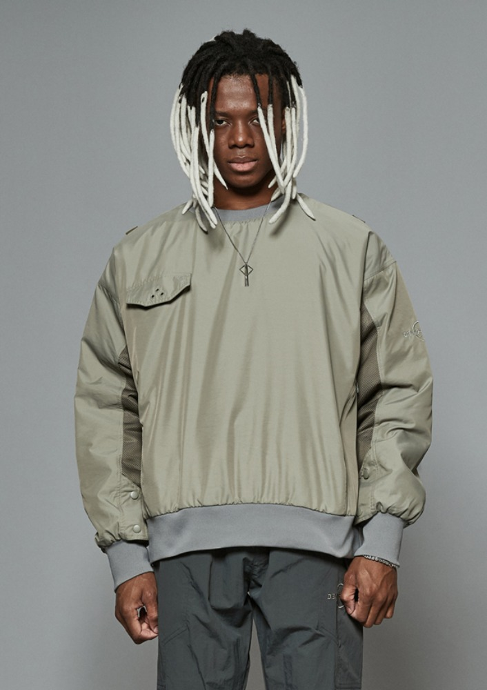 Own label brand[DE-NAGE] Net Pocket Pullover Khaki 0165
