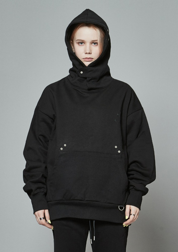 Own label brand[DE-NAGE] Hidden Pocket Snap Hood Black 0171